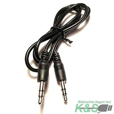 3,5mm Stereo Klinken Audio Klinke AUX Kabel Stecker für iPhone MP3 Auto Handy