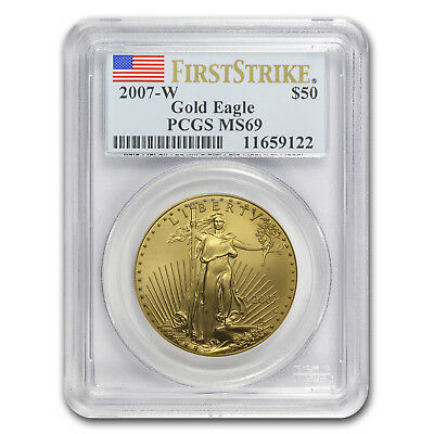 2007-W 1 oz Burnished Gold Eagle MS-69 PCGS (FS) - SKU#67306