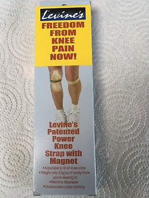 2 X  Bnib ~   Dr Levine's Magnetic Knee Straps - Offer Price!