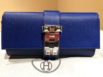 272e32da9b64 Hermes Medor 23 Clutch Bleu Electrique Chevre Mysore blue electric new bag  purse