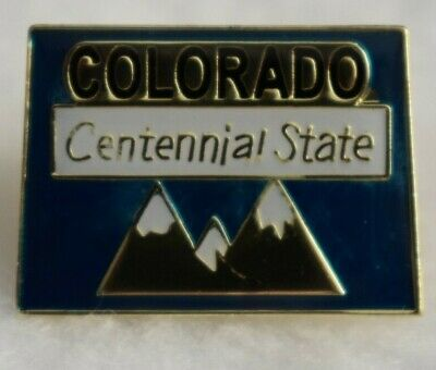 Colorado State colorful lapel pin (Centennial State) Nice NEW!!!
