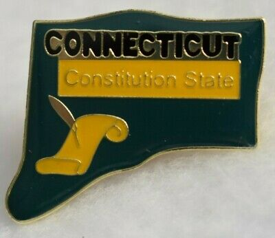 Connecticut State colorful lapel pin (Constitution State) Nice NEW!!!