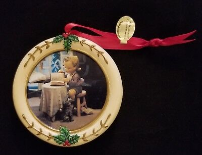 "Hummel Christmas Ornament Danbury Mint Circle ""Little Bookkeeper"""