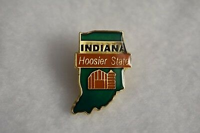 Indiana State colorful lapel pin Nice NEW!!!