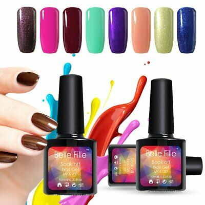 BELLE FILLE 10ml Classic Collection Soak Off UV LED Gel Nail Polish Manicure DIY