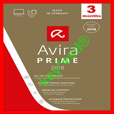 💥 Avira PRIME 3 Months 💥 AntiVirus + Phantom VPN Pro UNLIMITED Traffic ✅ FAST