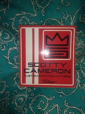 Rare New Scotty Cameron Red+White  Sticker Makes A Great Christmas Gift Idea