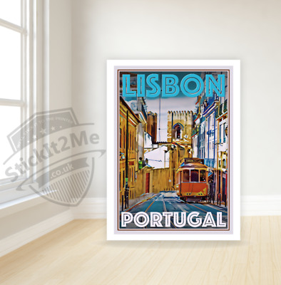 Art Deco Travel Posters Lovely Vintage Retro Holiday Tourism *Unique* Lisbon