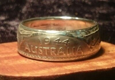 Custom made Australian Florin Coin Rings size 6 and up handmade silver jewellery