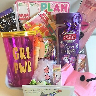 GIRLS BIRTHDAY GIFT HAMPER NOVELTY PRESENTS FOR HER DAUGHTER NIECE Unicorn Cute