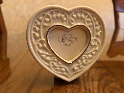 """Lenox Miniature Heart Picture Frame """"Wedding Promises"""" Collection"""