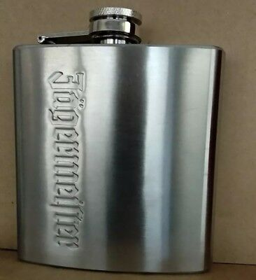 Jagermeister Brushed Stainless Steel 6 oz. Silver Flask