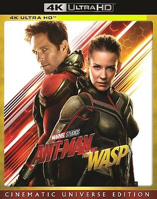 Ant Man and The Wasp - 4K Ultra HD with Slip Cover - Paul Rudd, Evangeline Lilly