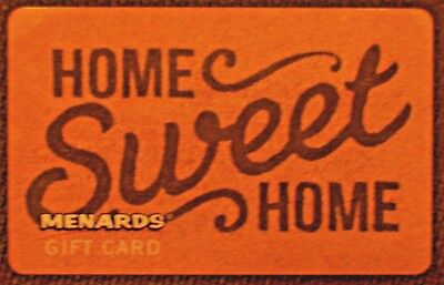 NEW HOME SWEET HOME MENARDS Unused Collectible GIFT CARD No Cash Value