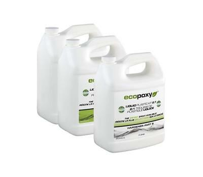 ECOPOXY 2:1 Ratio Liquid Plastic Kit 12 L epoxy river table art craft wood New