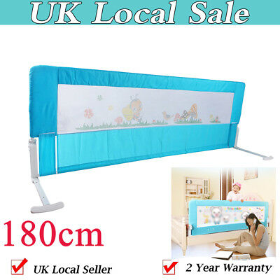 Safety Child Toddler Bed Rail Baby Bedrail Fold Cot Guard Protection Blue 180cm