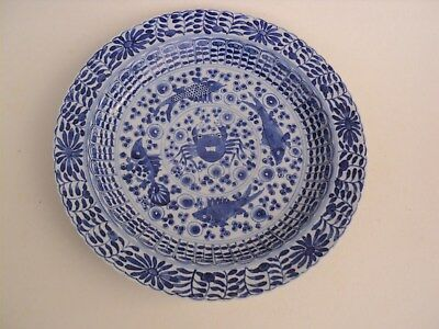 Assiette Chinoise Porcelaine Chine Chinese Porcelain Ceramic Kangxi Marks