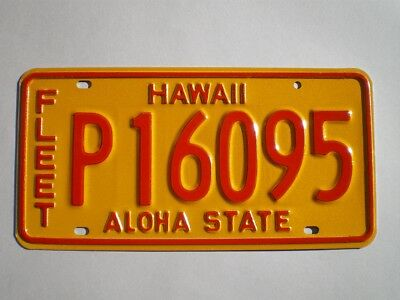 Authentic 1981 Hawaii License Plate
