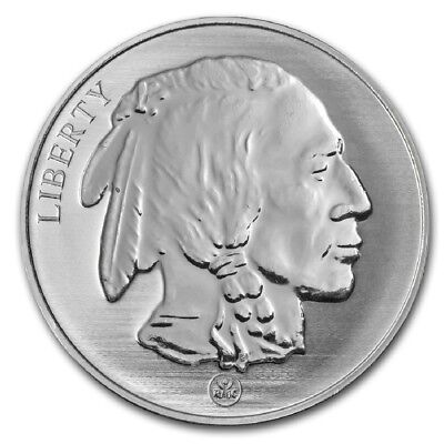 """""""Buffalo / Indian"""" Reverse Proof (RMC) 1 oz. .999 Fine SILVER Round"""