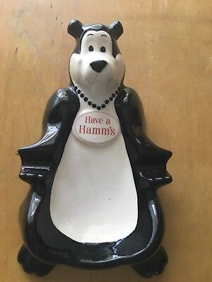 Vintage Mid-Century Have a Hamm's Beer Bear Advertising Ashtray Excellent