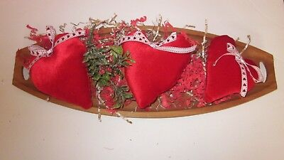 Valentine's Day Red Soft Set Of 3 Heart Bowl Fillers  Size 5.5 In To 6 In