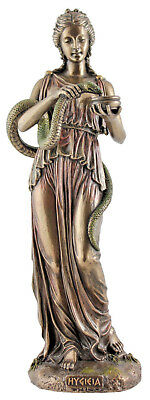 Veronese Bronze Figurine Hygieia Statue Ornament ~ Greek Goddess Of Health