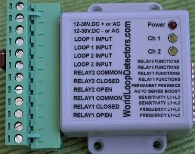 SPECIAL:-VEHICLE LOOP DETECTOR.SAFETY & AUTO EXIT to GATES & BARRIERS.12-24DC/AC