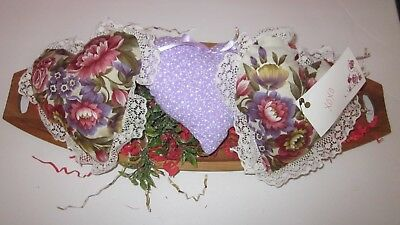 Valentine's Day Victorian Purple/maroon Floral  Set Of 3 Heart Bowl Fillers