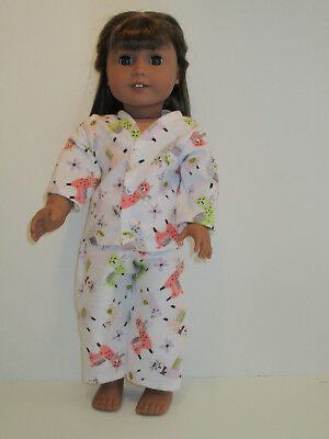 "Orange & Green Llama Pajamas 18"" Doll Clothes American Girl"