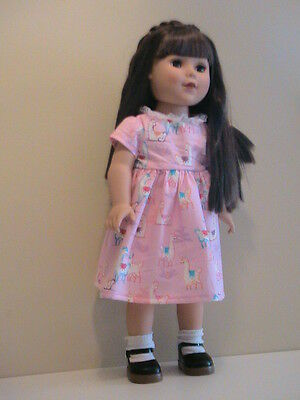 "Llama Dress for 18"" Doll American Girl Doll Clothes"
