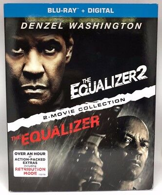 Equalizer 1&2 Collection (Blu Ray/Digital, 2018) Brand New