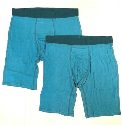 TOMMY JOHN 2-Pack TEAL/FOREST LARGE Boxer Briefs NWT!
