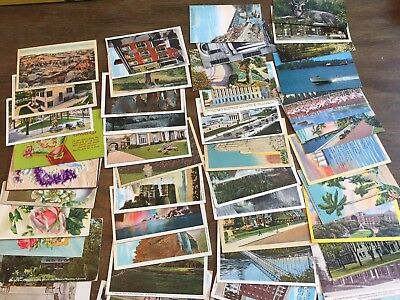 LOT of 100 RANDOM VINTAGE POSTCARDS Early 1900s - 1970s Antique Mixed Views