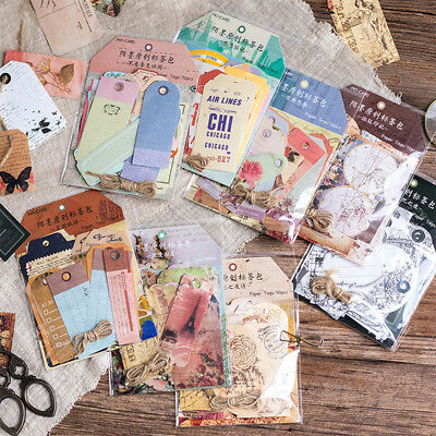 Shape Stationary Decoration Retro Rope Label Paper Tags Diary Stickers Bookmark
