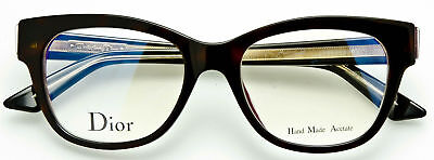 57fe70f9a09 CHRISTIAN DIOR MONTAIGNE NO. 6 G90 EYEGLASSES Havana Purple Black Crystal  50mm