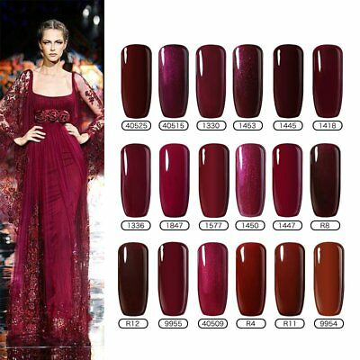 BELLE FILLE 8ml Classic Red Gel Nail Polish Soak Off UV Base Top Coat Manicure