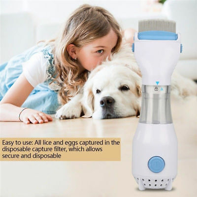 For Pet Automatic Head Lice Eliminator Electric Cleaner Treatment Pet Brush YL