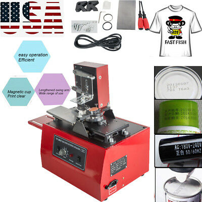 Electric Pad Printer Printing Machine T-Shirt Ink Print PVC MUG Ball Pen Device