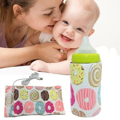 Bottle Warmer Heater Travel Baby Kids Milk Water USB Cover Sleeve Pouch Proper