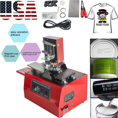 USA STOCK Electric Pad Printer Printing Machine T-Shirt INKPRINT PVC MUG Ballpen
