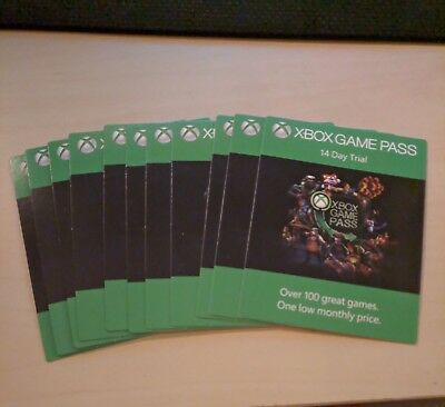 Xbox One Game Pass 14 Day Trial Global Subscription - Instant Delivery
