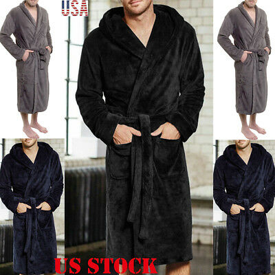 Mens Dressing Gown Luxury Bathrobe Robe Burgundy 2xl 3xl 4xl 5xl 6xl