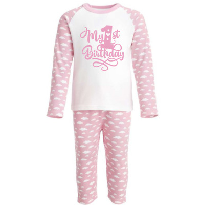 My First 1st Birthday Pink Pyjamas - 1st Birthday Pjs - Can Be Personalised
