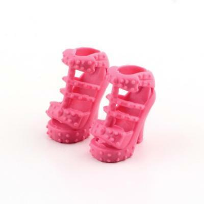12 Pairs Mix High Heel Shoes Boots for  Doll Dresses Clothes Gift Toy FT