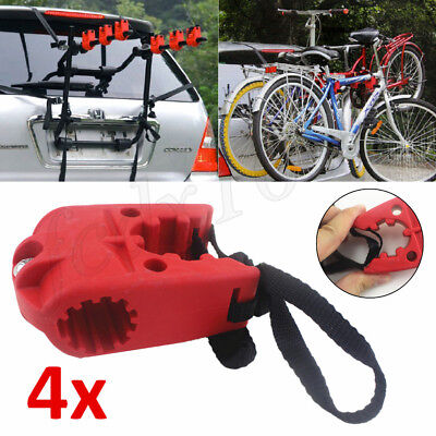 """Durable Rubber Bicycle MTB Bike Rack 1""""-1.7"""" Hitch Mount Carrier Strap Truck SUV"""