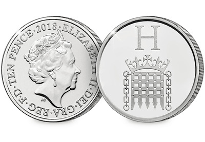 2018 10p H - Houses of Parliament - A-Z - Ten Pence Coin  - NEW Unc