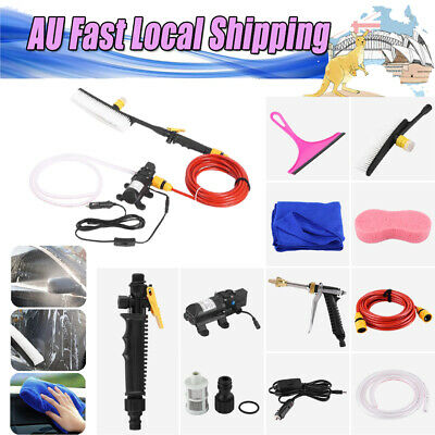 12V 70W High Pressure Car Washer Cleaner Water Wash Pump Sprayer Kit 4.0L/min AU
