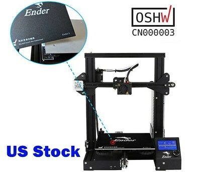 US - Creality Ender3 3D Printer Resume Print 220 x 220 x 250 mm DC 24V 15A