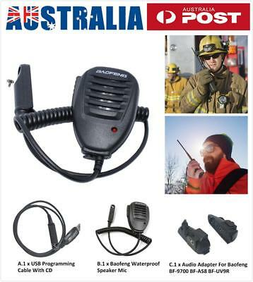 Shoulder Handheld Mini Walkie Talkie Speaker Mic Radio For Baofeng UV-9R BF-A58