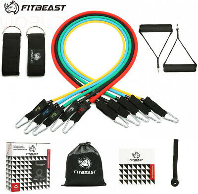 Exercise Resistance Bands Set, Fitness Stretch Workout Bands 11PC with...